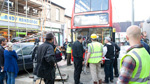 Filming a Double Decker